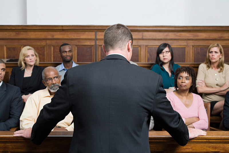Lawyer Advocacy in a Courtroom